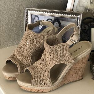 Shoes / Wedge / Sandals beige by Audrey Brooke